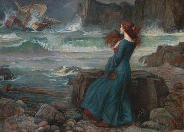 John William Waterhouse (1849–1917), Miranda - The Tempest 1916